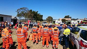 NSW SES facilitate plane crash scenario training exercise