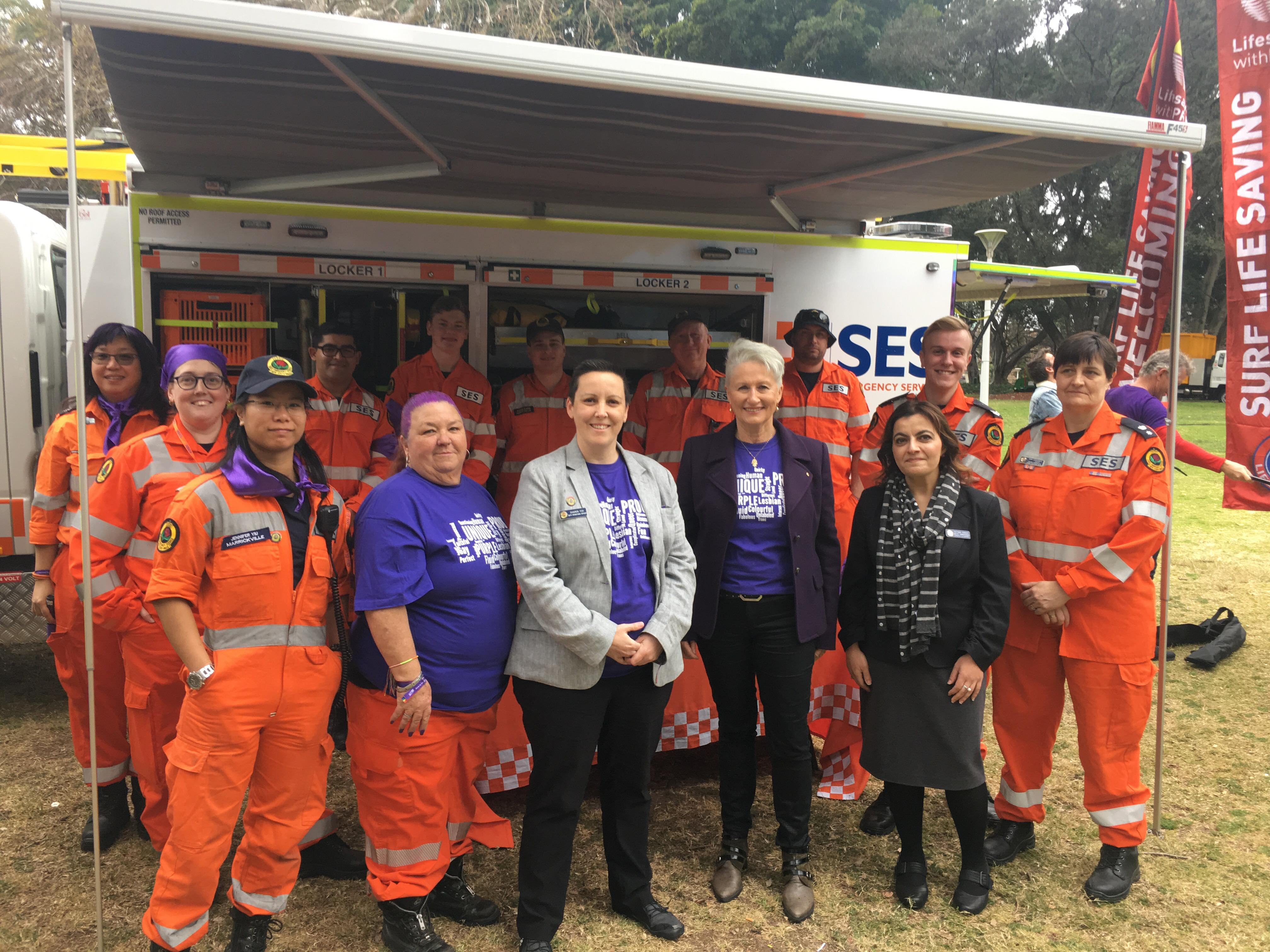 NSW SES Wears It Purple To Show Support