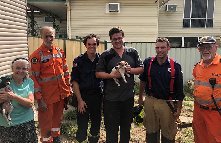 NSW SES Port Stephens Unit Rescue Tiny Puppy