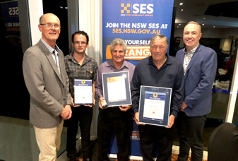 NSW SES Recognises Lifelong, Long Service and National Medal Award Recipients.