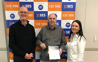 Congratulations to Tony Northbrook- Hine for receiving the National Medal Clasp 1 and the NSW SES 25 years Long Service Award.