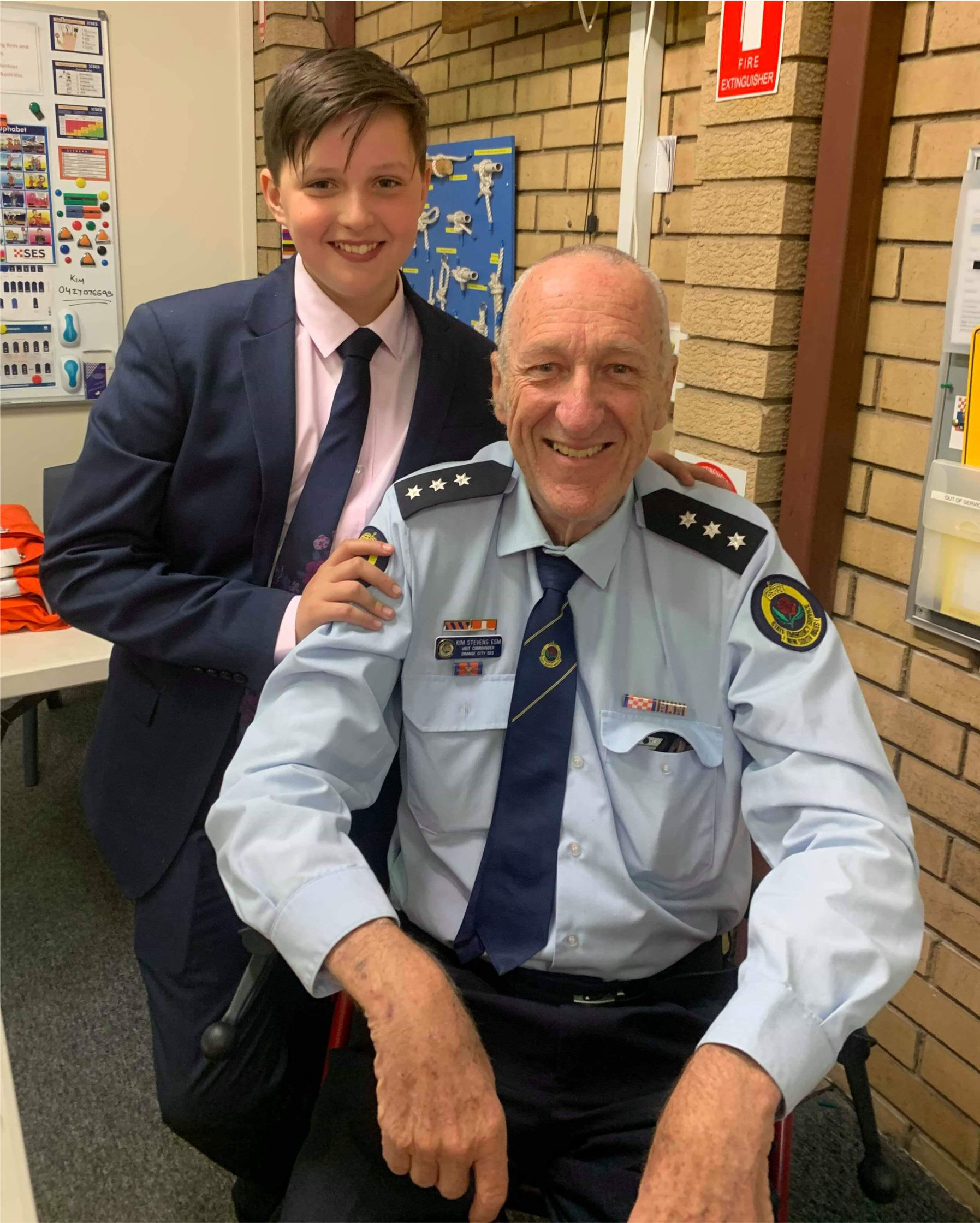 NSW SES Orange Commander hands reins to son