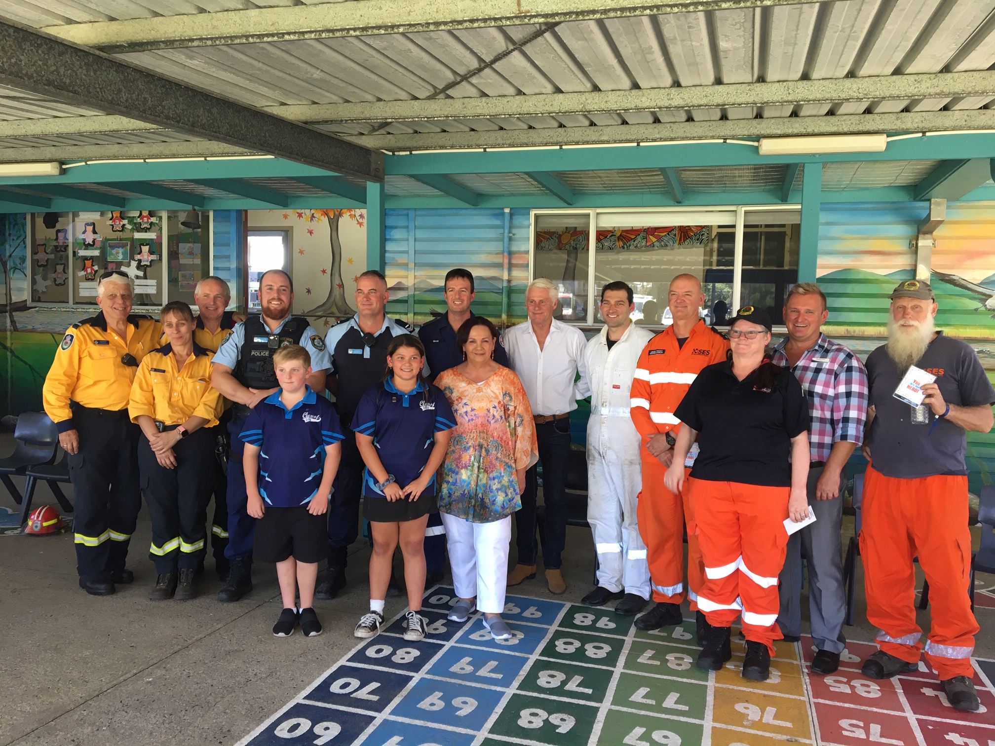 Condong Kids thank NSW SES heroes