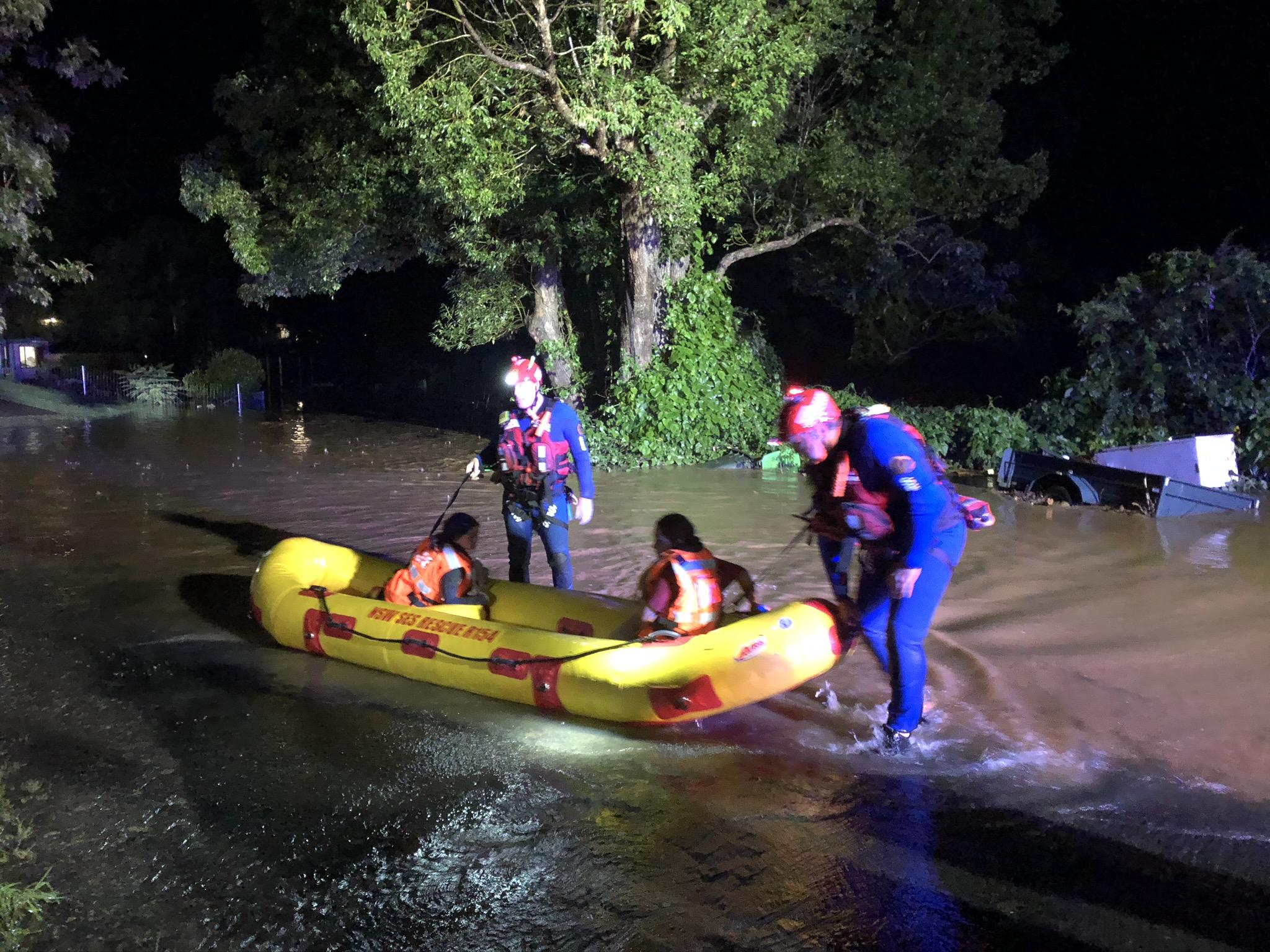 Coffs Harbour flood rescue specialists bring children to safety