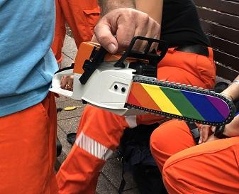 NSW SES members parade rain or shine