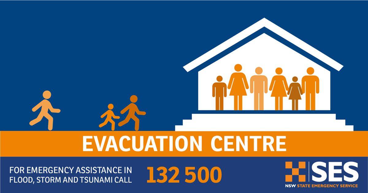 Current Evacuation Centres