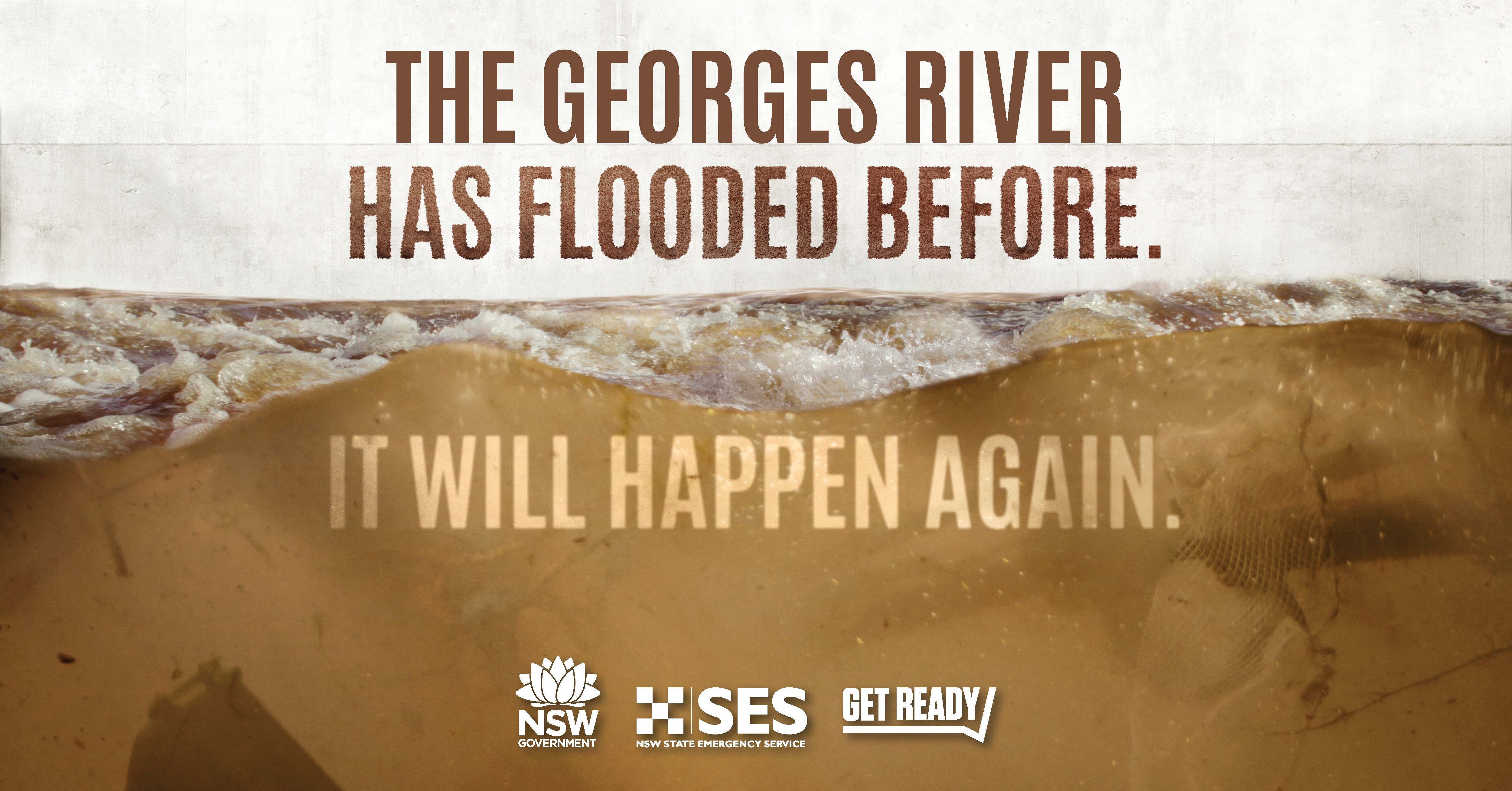 The Georges River has flooded before, it will flood again